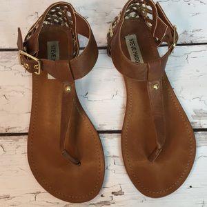 Steve Madden Flat Sandals Basket Heel Size 8